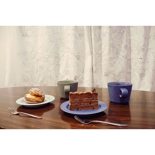 20170519アテスウェイのケーキと自家焙煎珈琲 (Instagram)