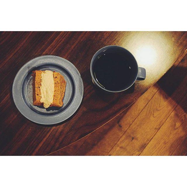 コーヒーとシフォンサンド20161110 (Instagram)