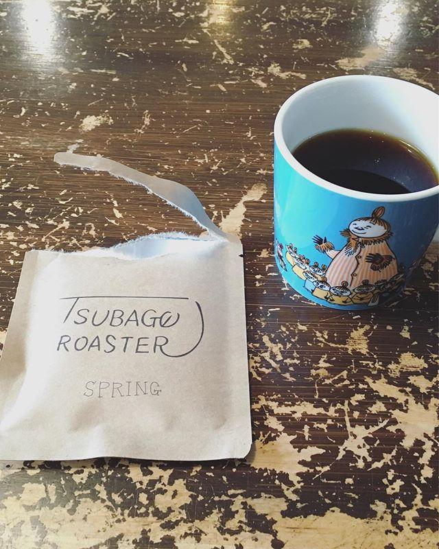 20180226朝のコーヒードリップバッグだと簡単!すぐ!おかげさまで初めてのtsubagoroasterコーヒー販売、完売できましたありがとうございます (Instagram)